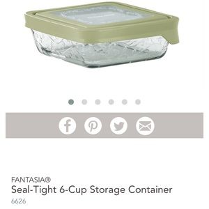 Princess House Fantasia Seal-Tight 6 cup Container